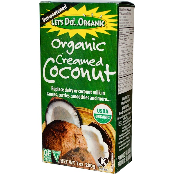 Edward & Sons, Organic Creamed Coconut, Unsweetened, 7 oz (200 g)