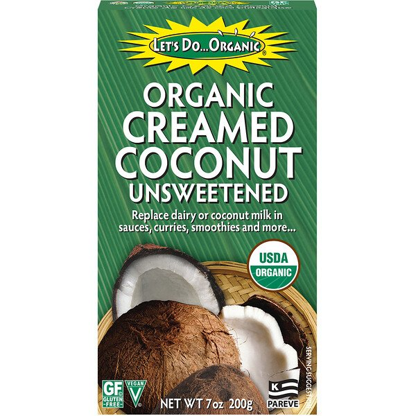 Let's Do Organic, Organic Creamed Coconut, Unsweetened, 7 oz (200 g)