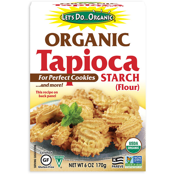 Let's Do Organic, Organic Tapioca Starch (Flour), 6 oz (170 g)