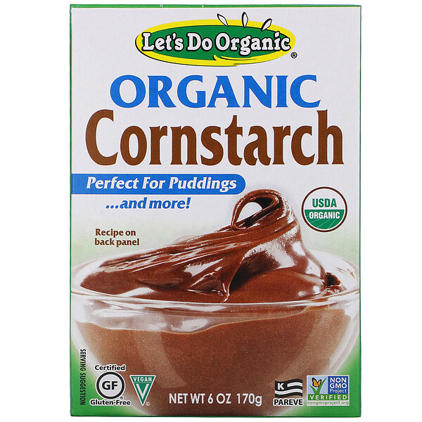 Edward & Sons, Edward & Sons, Let's Do Organic, Organic Cornstarch, 6 oz (170 g)