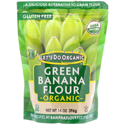 Купить Edward & Sons Let's Do Organic, органическая мука из зеленых бананов, 14 унц. (396 г)
