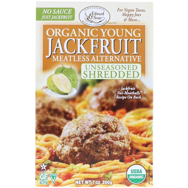 Organic Young Jackfruit, Unseasoned Shredded, 7 oz (200 g)