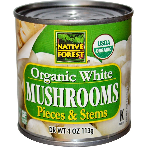 Edward & Sons, Organic White Mushrooms, Pieces & Stems, 4 oz (113 g) (Discontinued Item)