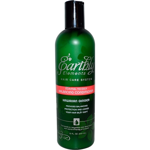 Earthly Elements by Solgar, Normal to Oily Balancing Conditioner, Hawaiian Ginger, 12 fl oz (355 ml) (Discontinued Item)