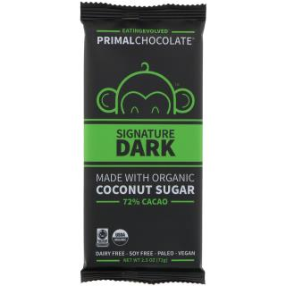 Eating Evolved, PrimalChocolate, Signature Dark, 72% Cacao, 2.5 oz (71 g)