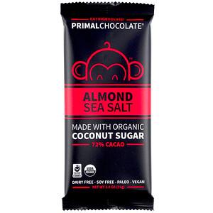 Evolved Chocolate, PrimalChocolate, Almond & Sea Salt 72% Cacao, 2.5 oz (71 g) отзывы