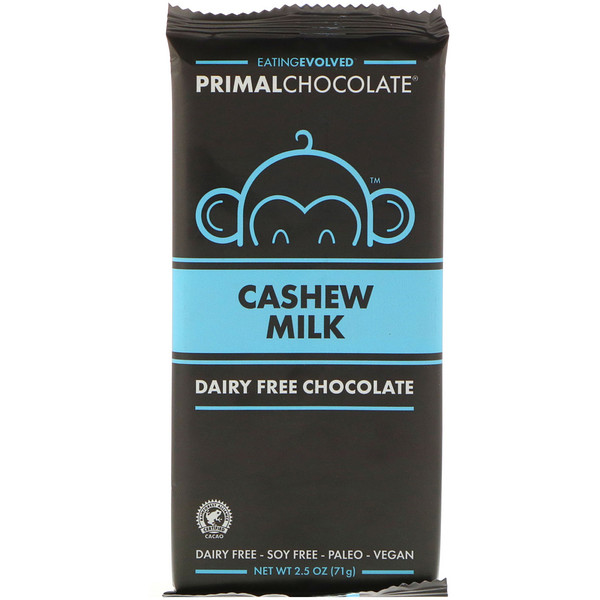 Evolved Chocolate, Primal Chocolate, Cashew Milk, 2.5 oz (71 g)