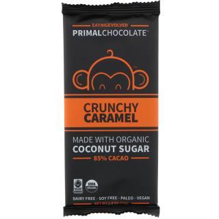 Eating Evolved, PrimalChocolate, Crunchy Caramel 85% Cacao, 2.5 oz (71 g)