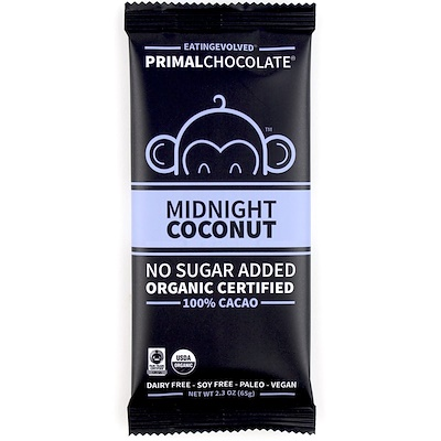Фото - PrimalChocolate, Midnight Coconut 100% Cacoa, 2.3 oz (65 g) clarks originals desert boot midnight
