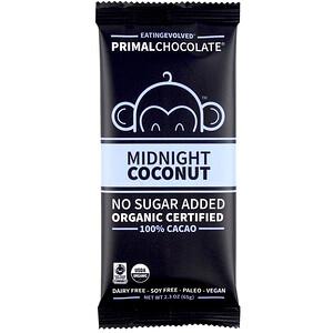 Evolved Chocolate, PrimalChocolate, Midnight Coconut 100% Cacao, 2.3 oz (65 g) отзывы покупателей