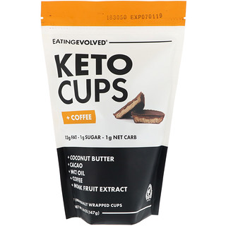 Eating Evolved, Keto Cups, + кофе, 5,18 унции (147 г)