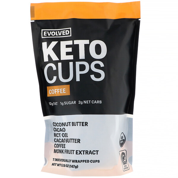 Evolved Chocolate, Keto Cups,  Coffee, 5.18 oz (147 g)