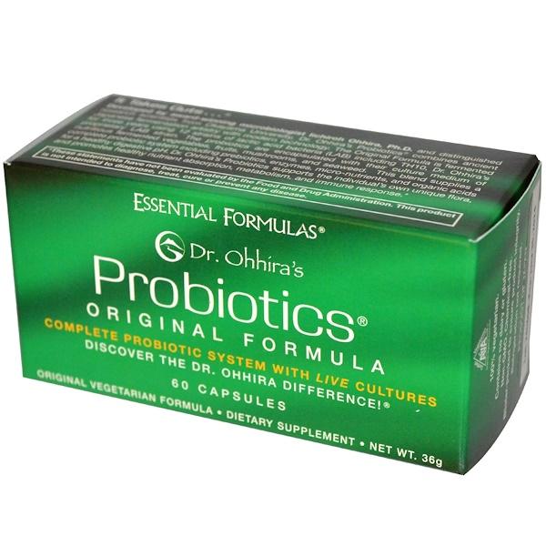 Dr. Ohhira's, Essential Formulas Inc., Probiotics, Original Formula, 60 Capsules