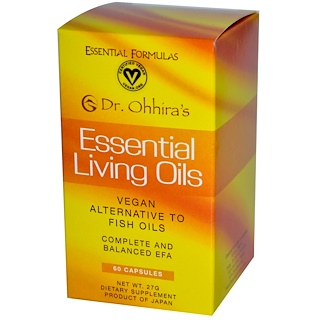 Dr. Ohhira's, Essential Formulas Inc., Essential Living Oils, 60 Capsules