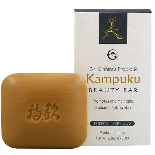 Dr. Ohhira's, Essential Formulas Inc., Probiotic, Kampuku Beauty Bar, 2.82 oz (80 g)