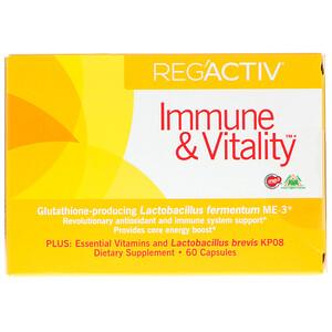 Др Оххира, Эссеншл Формьюлас Инк, Reg'Activ, Immune & Vitality, 60 Capsules отзывы