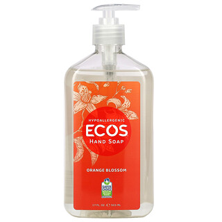Earth Friendly Products, Ecos, Hand Soap, Orange Blossom, 17 fl oz (502 ml)