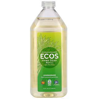 Earth Friendly Products, Ecos, Hand Soap, Lemongrass, 32 fl oz (946 ml)