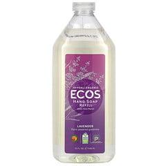 Earth Friendly Products, Ecos,洗手液补充装,薰衣花草香,32 液量盎司(946 毫升)