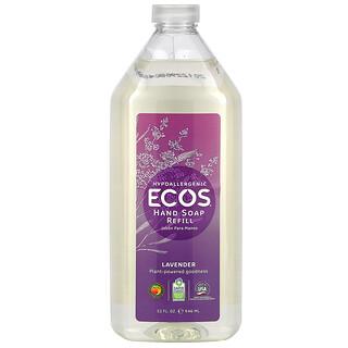 Earth Friendly Products, Ecos, Hand Soap Refill, Lavender, 32 fl oz (946 ml)
