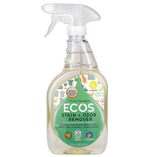 Earth Friendly Products, Ecos,污渍 + 异味去除剂,柠檬香,22 液量盎司(650 毫升)