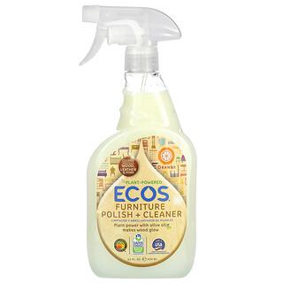 Earth Friendly Products, Ecos, Furniture Polish +  Cleaner, Orange, 22 fl oz (650 ml)