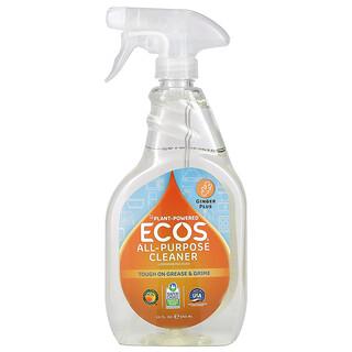 Earth Friendly Products, Ecos,多功能清洁剂,Ginger Plus,22 液量盎司(650 毫升)