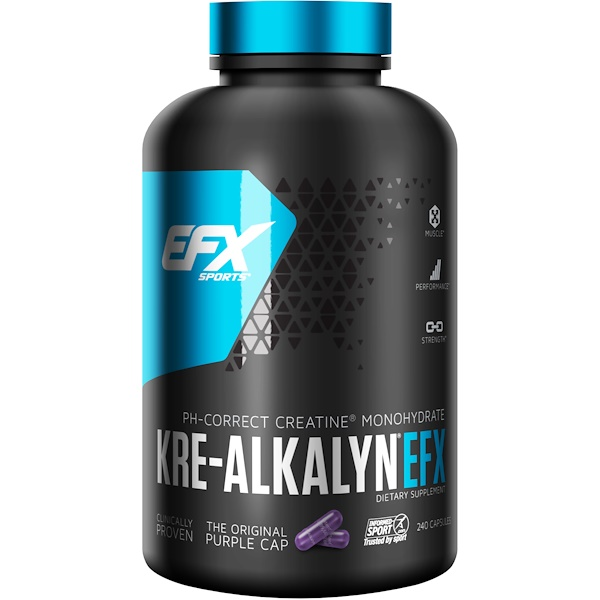 EFX Sports, Kre-Alkalyn EFX, 240 כמוסות