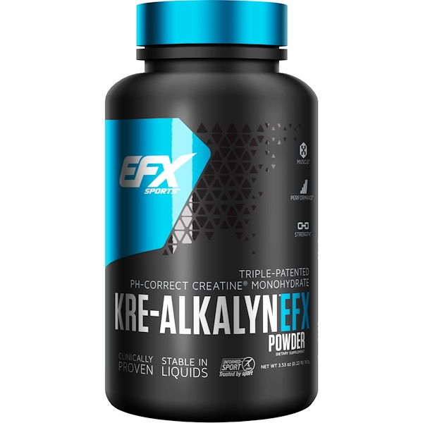 EFX Sports, Kre-Alkalyn EFX粉,中性口味,100克