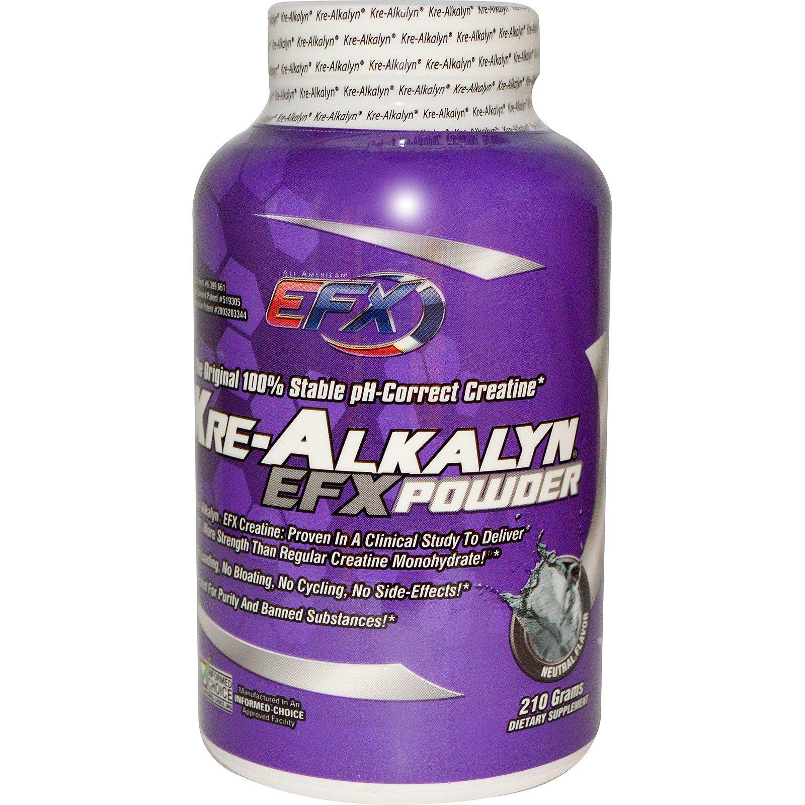 Efx Sports Kre Alkalyn Efx Powder Neutral Flavor 210 G Iherb