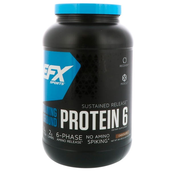 EFX Sports, Training Ground, Protein 6, Chocolate, 2.4 lbs (1089 g) (Discontinued Item)