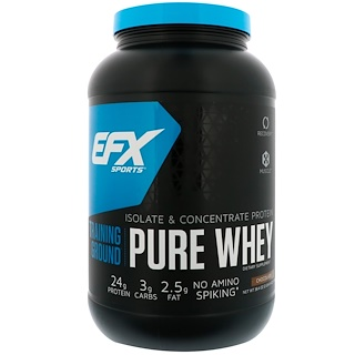EFX Sports, Training Ground, Pure Whey, Chocolate, 38.4 oz (1089 g)