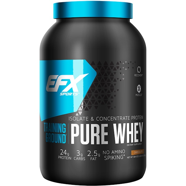 EFX Sports, Training Ground, Pure Whey, Chocolate, 2.4 lbs (1089 g) (Discontinued Item)
