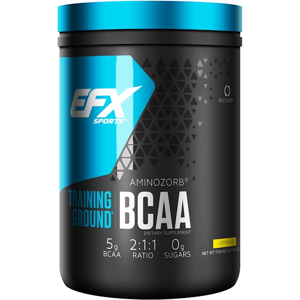 EFX Sports, Training Ground,支鏈氨基酸,檸檬水,17、64盎司(500克)