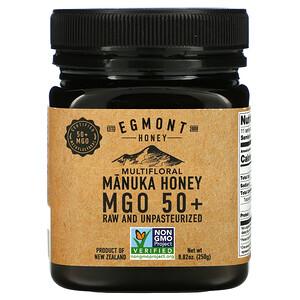 Egmont Honey, Multifloral Manuka Honey MGO 50+, Raw And Unpasteurized, 8.82 oz (250 g)