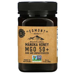 Egmont Honey, Multifloral Manuka Honey, Raw And Unpasteurized, MGO 50+, 17.6 oz (500 g)