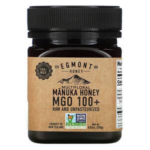Egmont Honey, Multifloral Manuka Honey MGO 100+, Raw And Unpasteurized, 8.82 oz (250 g)