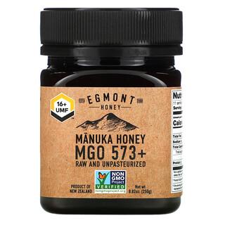 Egmont Honey, Manuka Honey, Raw And Unpasteurized, 573+ MGO, 8.82 oz (250 g)
