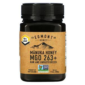 Egmont Honey, Manuka Honey, Raw And Unpasteurized, 263+ MGO, 17.6 oz (500 g)