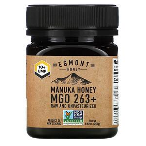 Egmont Honey, Manuka Honey, Raw And Unpasteurized, MGO 263+, 8.82 oz (250 g)