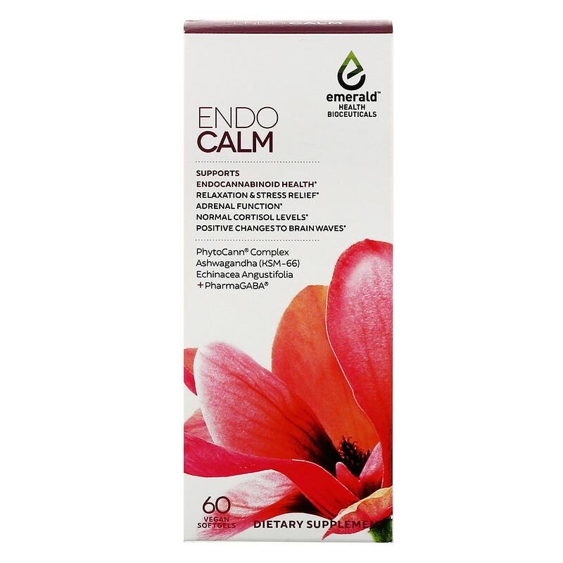 Emerald Health Bioceuticals, EndoCalm, 60 Vegan Softgels