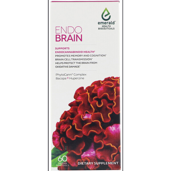 Emerald Health Bioceuticals, Inc, EndoBrain, 60 Vegan Softgels