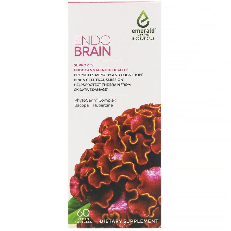 Emerald Health Bioceuticals, EndoBrain, 60 Vegan Softgels