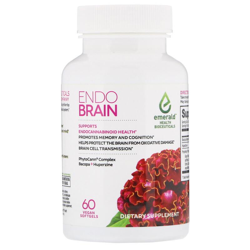 Emerald Health Bioceuticals, EndoBrain, 60 Vegan Softgels - photo 2