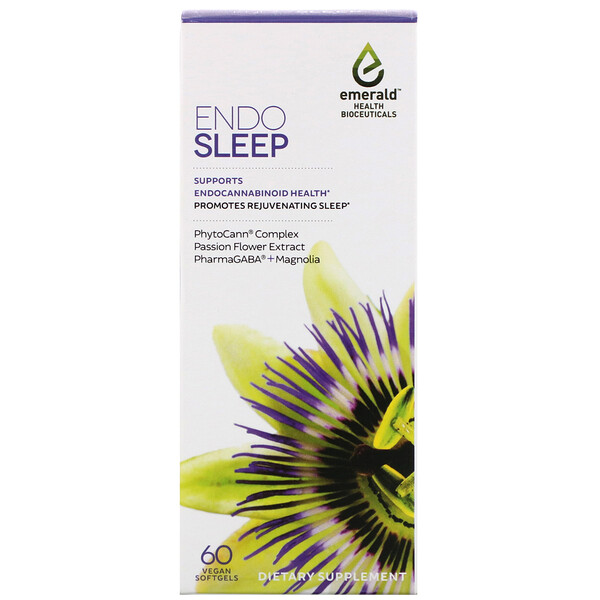 Emerald Health Bioceuticals, EndoSleep, 60 Vegan Softgels