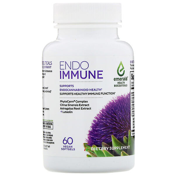 Emerald Health Bioceuticals, Endo Immune, 60 Vegan Softgels