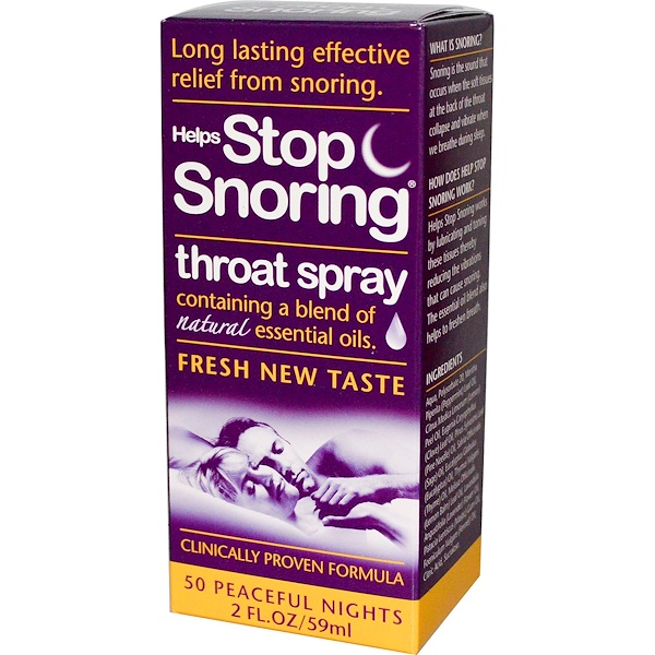 Essential Health Products, Helps Stop Snoring, Throat Spray, 2 fl oz (59 ml)