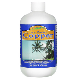 Eidon Mineral Supplements, Copper, 18 oz (533 ml)