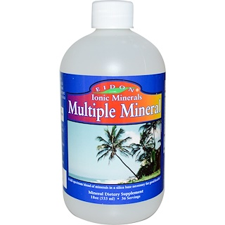 Eidon Mineral Supplements, Ionic Minerals, Multiple Mineral, 18oz (533 ml)
