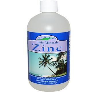 Eidon Mineral Supplements, イオニック・ミネラル、亜鉛、18 オンス (533 ml)